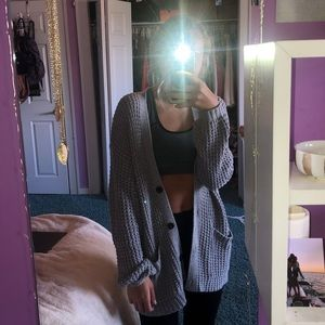 Oversized grey cardigan